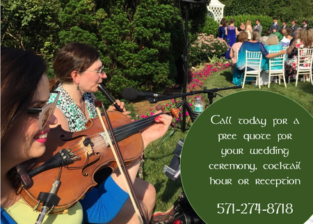 Celtic music for weddings in Virginia, Maryland, Washington DC